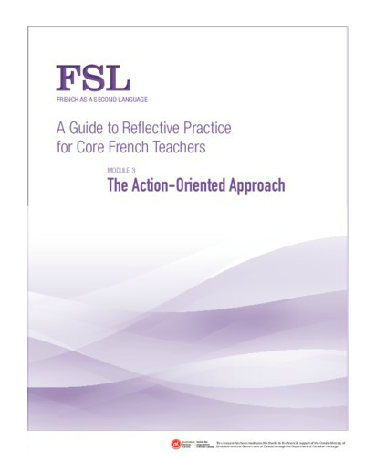 "Image of the ""The Action-Oriented Approach"" document"