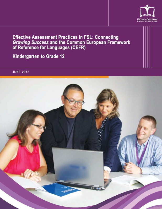 "Cover of ""Effective Assessment Practices in FSL (Ottawa-Carleton DSB)"" document"
