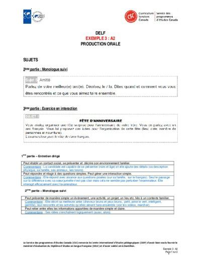 """Image du document """"Exemple 3 : A2 orales"""""""