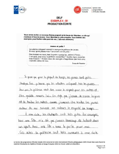 """Image du document """"Exemple 4 : B1 écrites"""""""