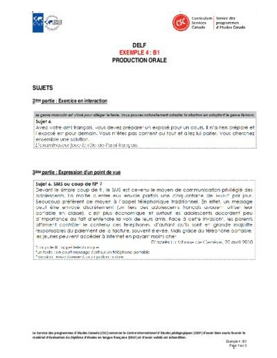 """Image du document """"Exemple 4 : B1 orales"""""""