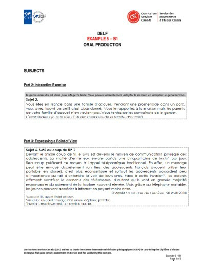"""Image of """"Example 5 – B1 Oral"""" document"""