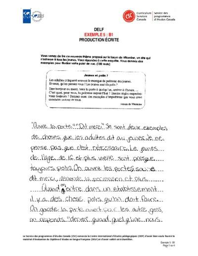 """Image du document """"Exemple 5 : B1 écrites"""""""