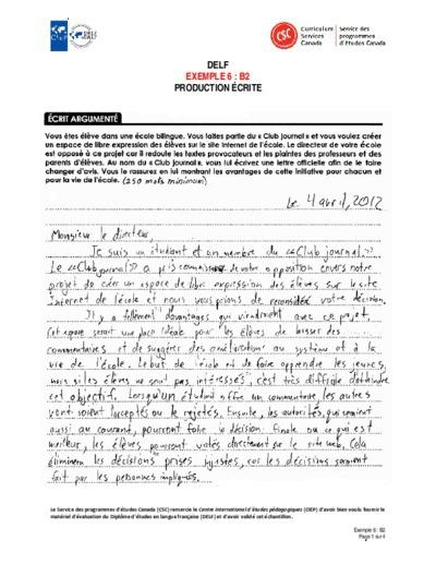 """Image du document """"Exemple 6 : B2 écrites"""""""