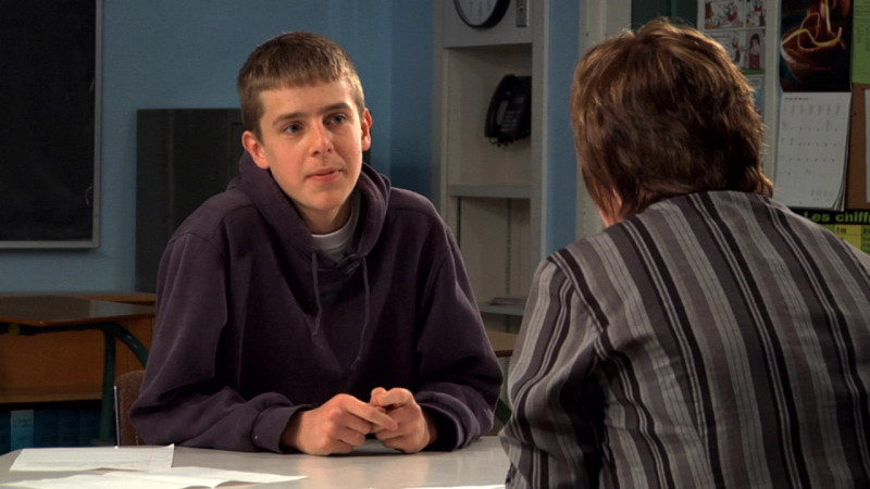 "Image of student being interviewed from ""Example 4 – B1"" video"