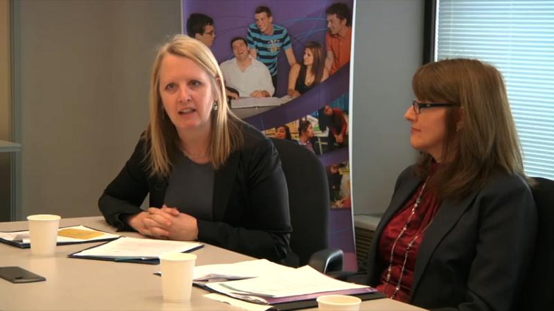 """Image d'éducatrices prise de la vidéo """"Partie B: Leadership pédagogique dans le contexte du FLS"""""""