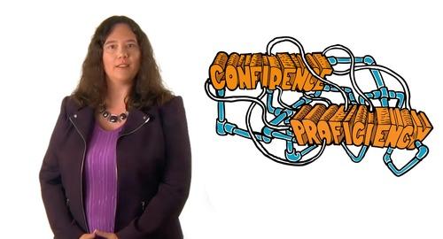"""Image de Docteure Rehner prise de la vidéo """"Un projet pilote sur les compétences et la confiance des élèves en FLS"""""""