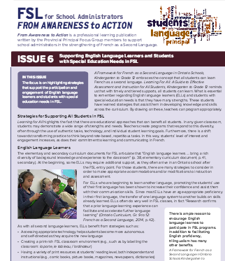 "image of the of cover of ""Issue 6 - Supporting English Language Learners and Students"""