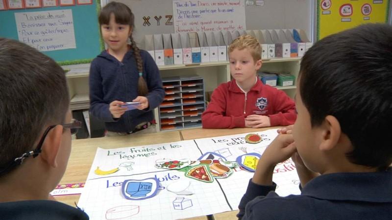 """Image d'élèves prise de la vidéo """"Appuyer les élèves apprenant la langue anglaise en FLS"""""""