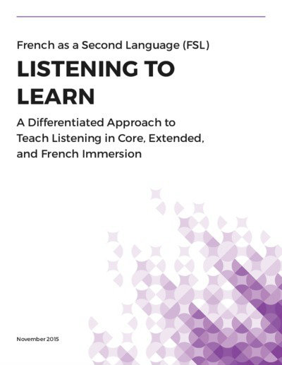 "cover of ""Listening to Learn"" document"