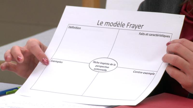"""Image d'une polycopie prise de la vidéo """"Le co-apprentissage: la perspective actionnelle et l'approche par les tâches"""""""