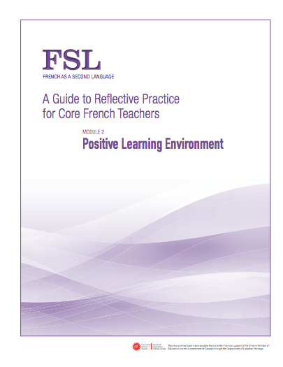 "Image of ""Positive Learning Environment"" document"