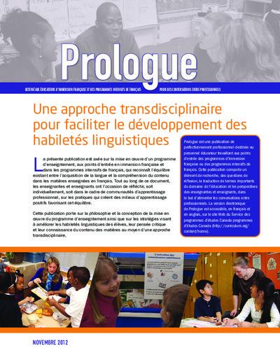 """Image du document """"Une approche transdisciplinaire pour faciliter le développement des habiletés linguistiques"""""""
