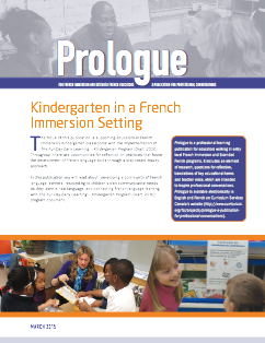 "image of the ""Kindergarten in a French Immersion Setting"" document"
