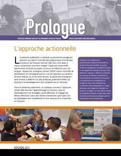 """Image de la page titre de """"L'approche actionnelle"""""""