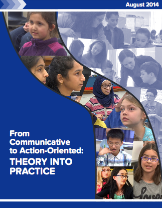"Image of cover of ""From Communicative to Action-Oriented: Theory into Practice"" document"