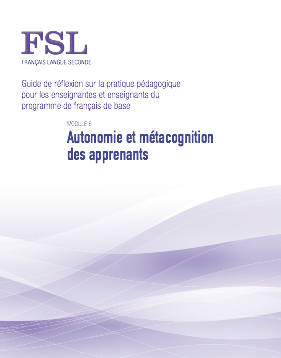 "Image du document ""Autonomie et métacognition des apprenants"""