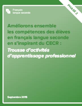 """Image de la page titre de la """"Trousse d'activités d'apprentissage professionnel"""""""
