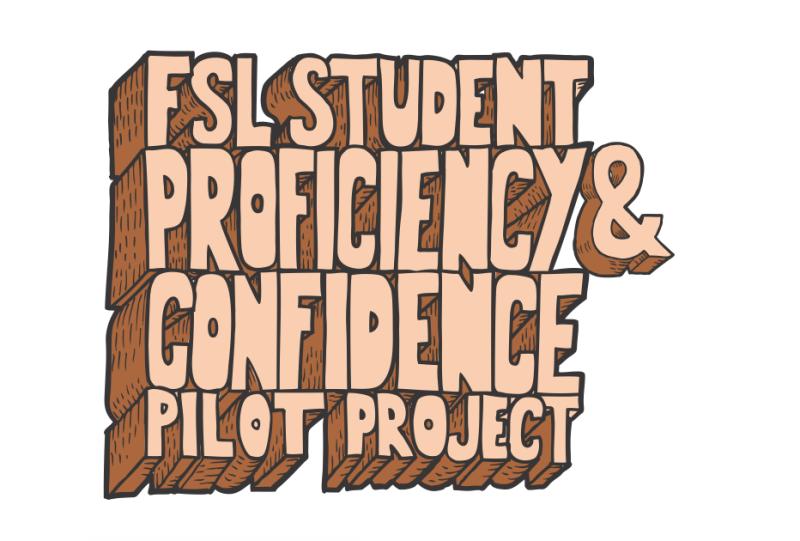 """Image du titre """"Student Proficiency and Confidence Pilot Project"""" de la présentation """"Un projet pilote sur les compétences et la confiance des élèves en FLS"""""""